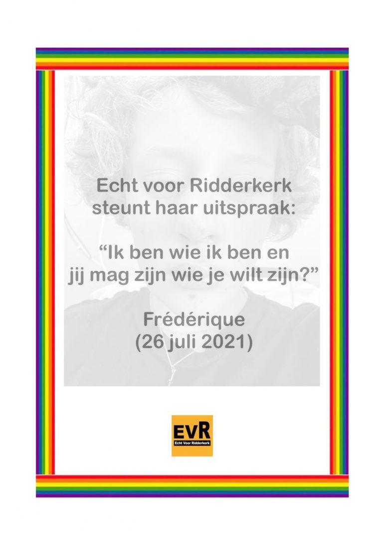 EvR betuigt steun aan Frédérique